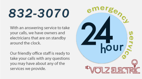 Volz Electric 24 hour electrician services